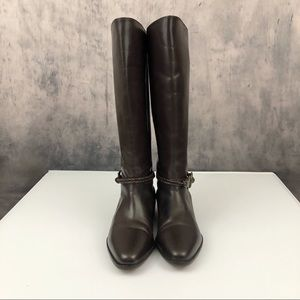 Seychelles Chocolate Brown Leather Boots 5.5M